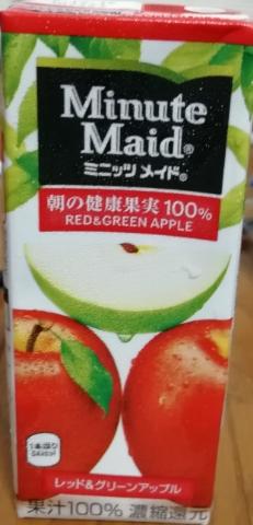 ミニッツメイド レッド&グリーンアップル100%(明治)感想・レビュー